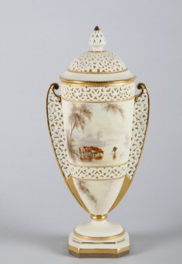 19th Century Royal China Works Worcester double handled reticulated vase and cover, Sold£2,000.jpg