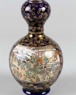 Japanese Satsuma double gourd pottery vase, Sold £600.jpg