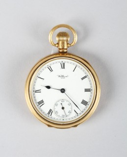 18 Carat gold gents Waltham pocket watch, Sold £700.jpg