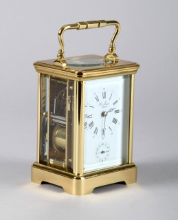 French repeating brass carriage clock, Sold £650.jpg