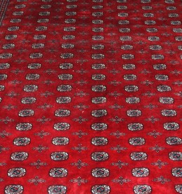 Large very fine Bokhara red ground carpet, Sold £1900.jpg