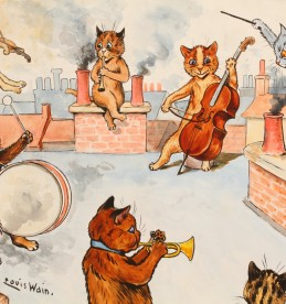 Louis Wain (1860-1939) watercolour., Sold £3900.jpg