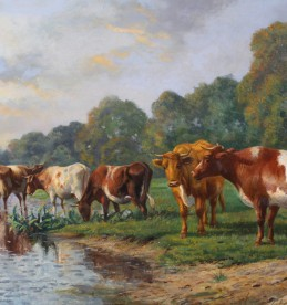 Thomas Sydney Cooper,oil on canvas, Sold for £1550