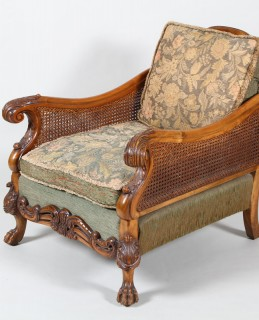 A magnificent carved frame bergere three piece suite, Sold £1,550.jpg