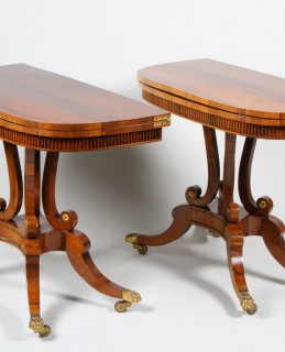 Pair Scottish Regency rosewood foldover card tables. Sold £9900.jpg