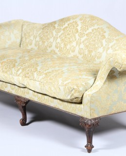 Victorian upholstered scroll end settee, Sold £1600.jpg