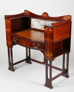 Arts and Crafts mahogany writing desk by Shapland and Petter, Barnstable, Realised £7000.jpg