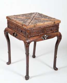 Chinese carved hardwood games table, Sold £1,800.jpg