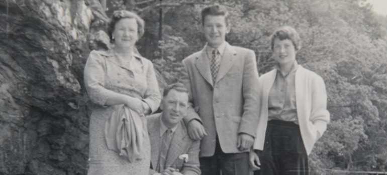 1950s, The Callan family, Thomas and son David Callan.