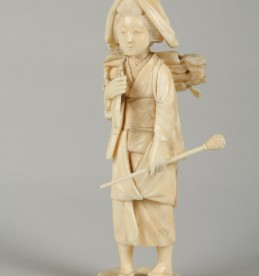 Japanese carved ivory Okimono, sold £240.jpg