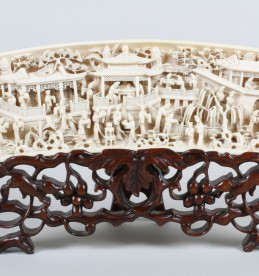 Chinese carved ivory panel, Realised £3200.jpg