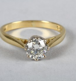 1 Carat brillant cut solitaire diamond ring, Sold £1250.jpg
