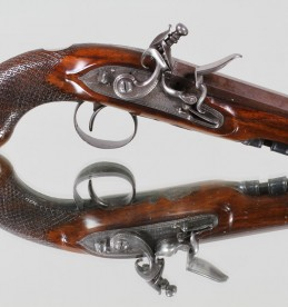One of a pair Flintlock travelling pistols, HWMortimer.Sold £3100.jpg