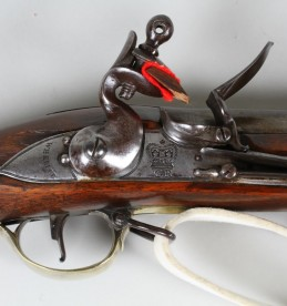 10 bore Volunteer Brown Bess flintlock musket, closeup.jpg