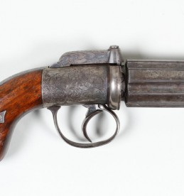 19th Century pepperbox percussion pistol. Sold £1600.jpg