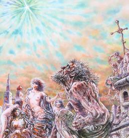 Peter Howson OBE, pen and ink, mixed media. Sold £2400.jpg