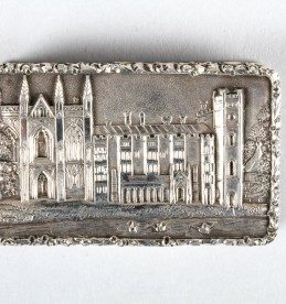 William IV silver castle top vinaigrette, Sold £1000.jpg