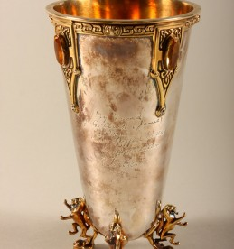 Jewelled Silver Vase sold £900.