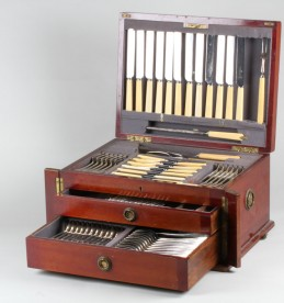 Mahogany canteen of silver cutlery, Sold £2100.jpg